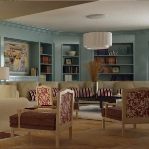 Living room 1 Vray